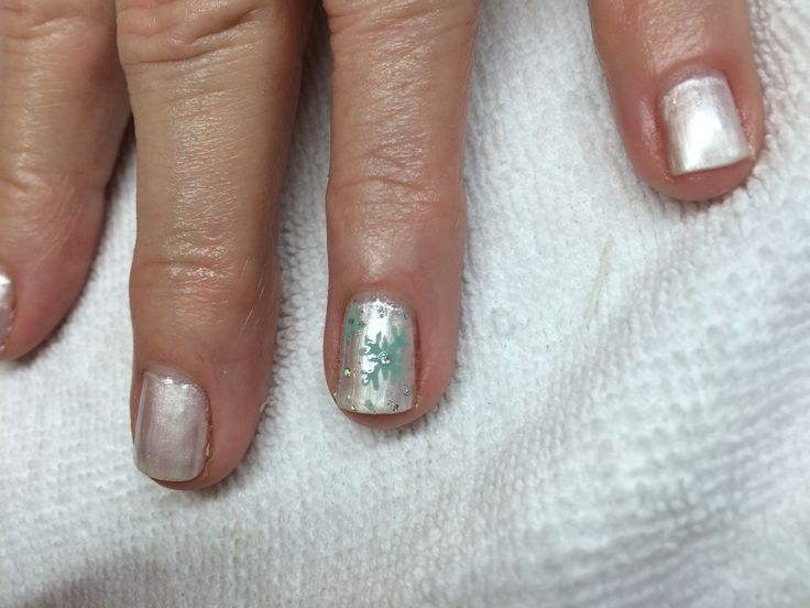 Zoya Christmas Nails done by Jayme ! Blue Snowflakes !