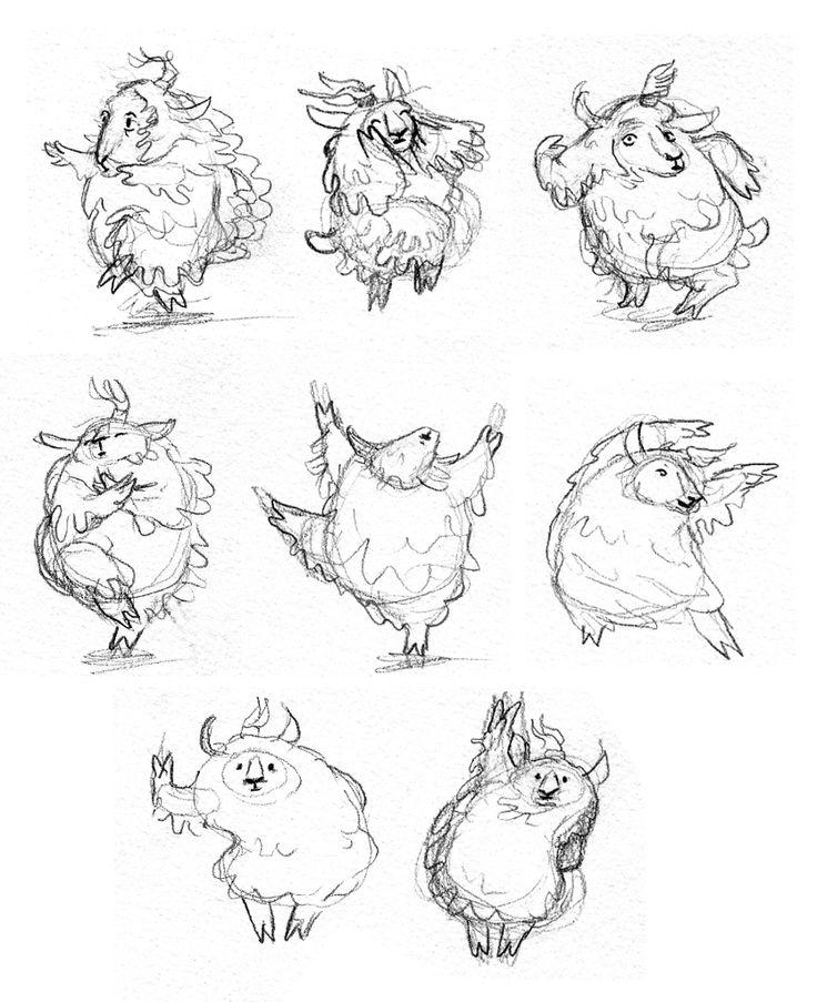 children's illustrations of sheep | dancing sheep | Viviane Schwarz