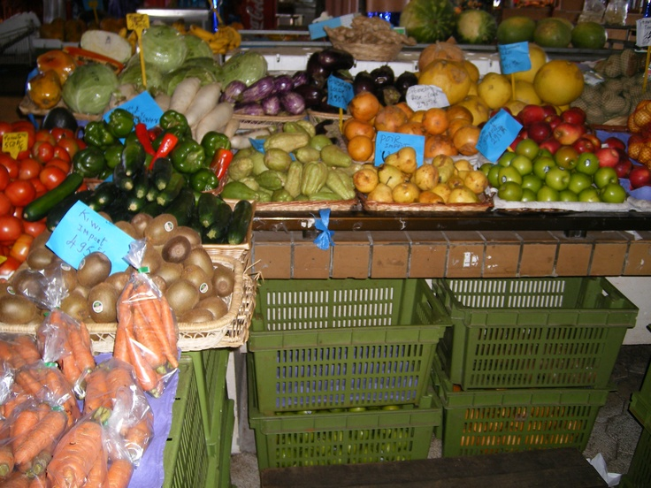 at the market in New Caledonia