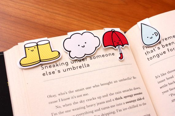 Cute magnet bookmarks mark your page.