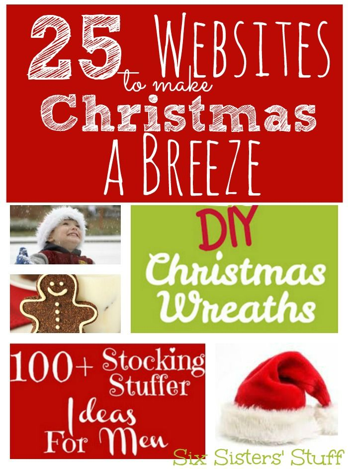 These 25 websites will make Christmas so much easier! From Cards and Cookies, to White Elephant Gifts and Tree Care- This post has it all from sixsistersstuff.com #Christmas #Christmasideas #sixsistersstuff
