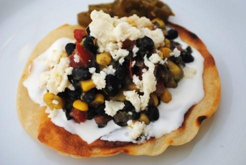 Black Bean and Corn Tostadas: Black Beans, Recipes, Summer