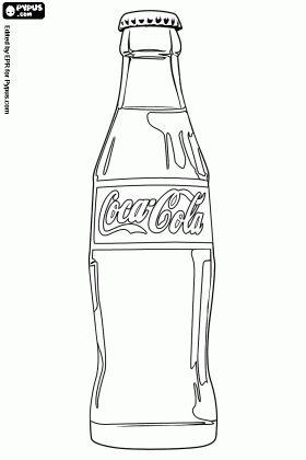Coca cola bottle coloring page coca cola coloring pages for Coloring pages of bottles