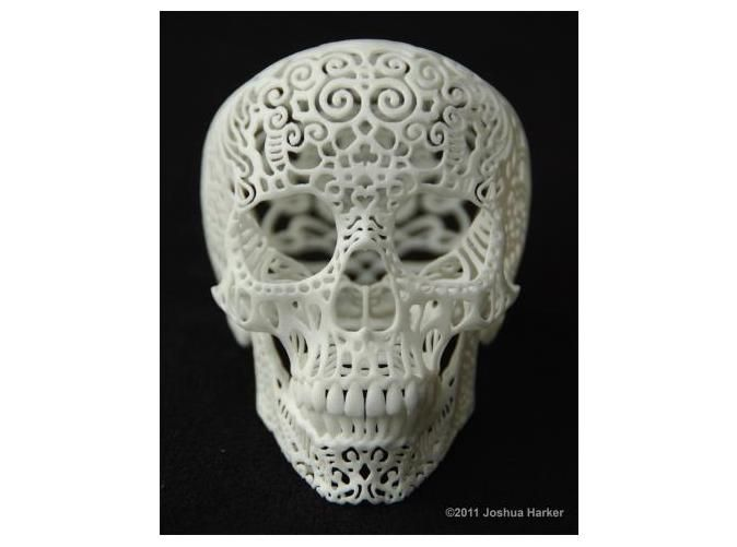 Crania Anatomica Filigre (small) by JoshuaHarker on Shapeways