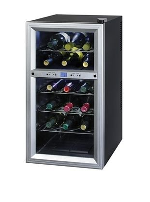 Kalorik Thermoelectric Dual-Zone 18-Bottle Ventilated #Wine Cooler (Silver/Black) #winerack