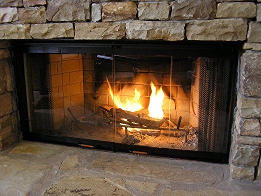 Heatilator Fireplace Doors Black 36 Series Glass Doors Dm1036