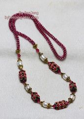 Alia (BeeJang - Piratchada) Tags: oro rosso collana d'oro di cristallo fatti a mano gioielli di perle swarovski smeraldo perline perline Craw beadweaving morion superduo