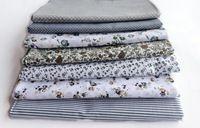 Ткань серый 7 шт. 100% хлопок стегальную для DIY швейные лоскутные детей постельных принадлежностей сумки тильда куклы младенца текстиль 50 * 50 см