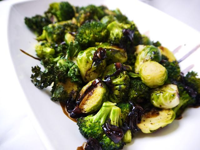 roasted kale, broccoli, brussel sprouts w/ balsamic dressing