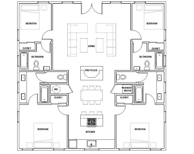 The Patagonia 30 X30 Etsy House Floor Plans House Plans Cottage House Plans