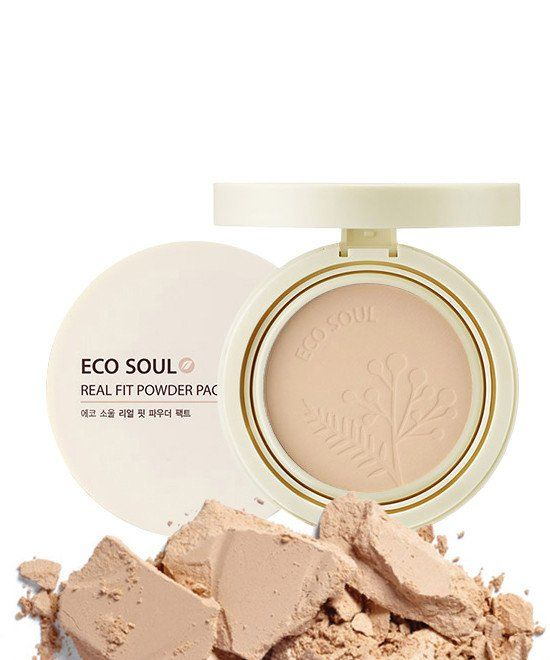 The Saem Eco Soul Real Fit Powder Pact (SPF35/PA  ) 12g https://www.glamourflare.com Korean beauty products on sale uk europe