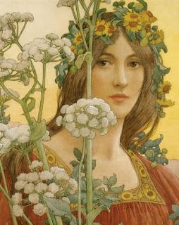 Pre Raphaelite Art: Elisabeth Sonrel - Our Lady of the Cow Parsley