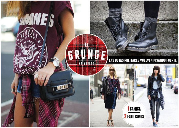 El estilo grunge ha vuelto. Da rienda suelta al tartan y combínalo como quieras.  www.ochik.com/blog