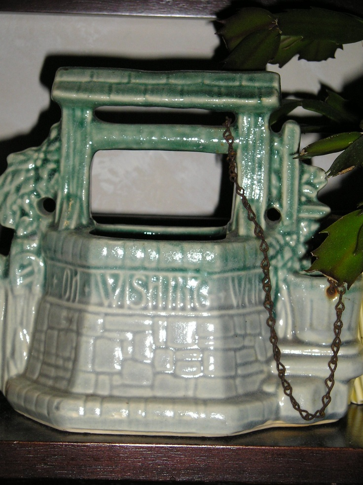 My Wishing Well!!   One of my favorites! vc: Vintage Pottery, Universe Wishing Wells, Delightful Vintage