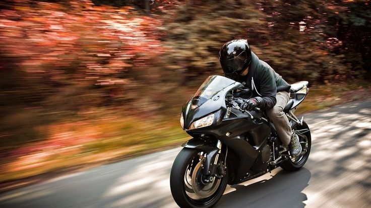 Black Sports Motocycle Speed Road Wallpaper - http://www.gbwallpapers.com/black-sports-motocycle-speed-road-wallpaper/ (Black, Motocycle, Road, Speed, Sports, Wallpaper / Bikes)