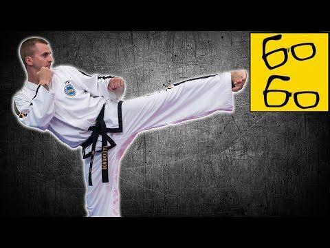 (1) Техника удара ногой в сторону (юп-чаги) — боковой удар ногой в тхэквондо с Антоном Шаманиным - YouTube