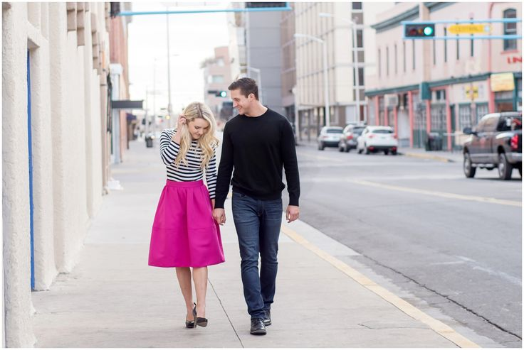 Brooke and Mitch's Downtown Albuquerque Engagement Photos by Maura Jane Photography