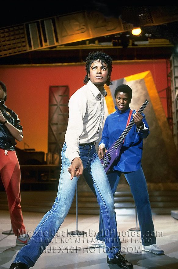 Michael Jackson with his brothers MOTOWN 25 REHEARSALS