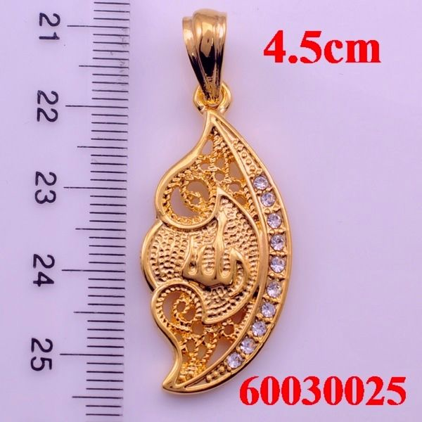 ALLAH Pendants,Arabic Jewelry, With Rhinestone Jewelry