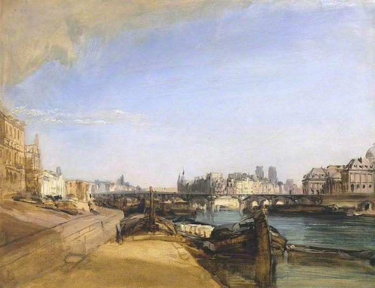 The Pont des Arts, Paris, c.1826 by Richard Parkes Bonington (English 1802–1828)
