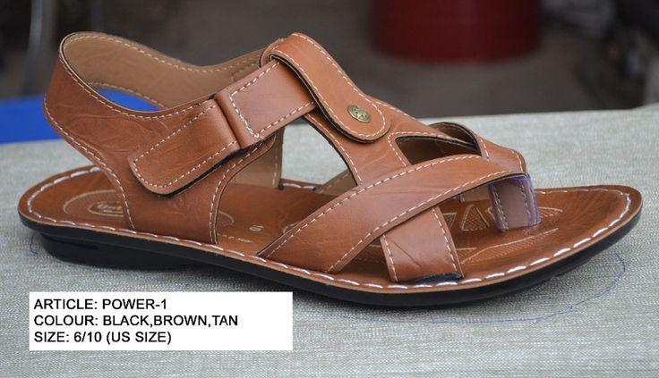fancy mens pu sandal