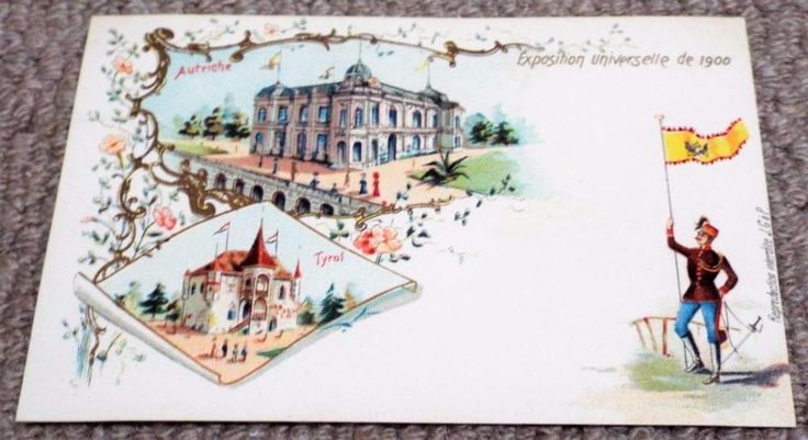 Austria - Paris Exposition Universelle - Undivided Back 1900 World Fair Postcard