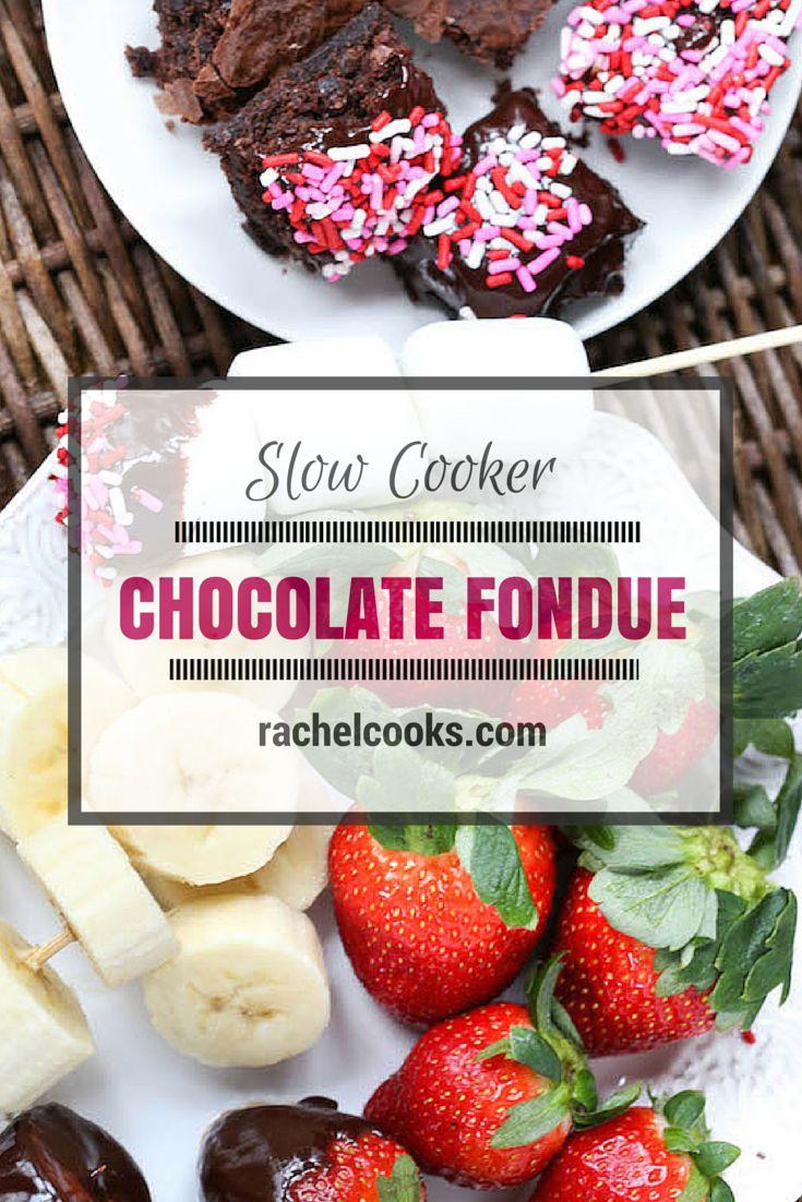 Slow Cooker Chocolate Fondue | Recipe | Valentines, The o ...