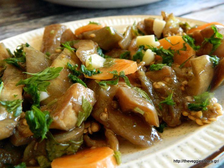 Μελιτζάνες τουρσί - Pickled eggplants