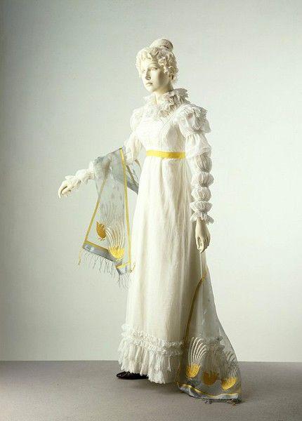 1820, English or FrenchFashion, 16Th Century, Regency Dresses, Muslin Dresses, 17Th Century, Regency Era, 1820, Full Sleeve, Mary Sleeve