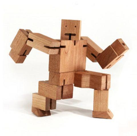 Wooden Robot Guy