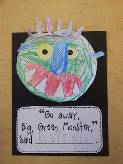 This is a photo of Clever Go Away Big Green Monster Printable Book