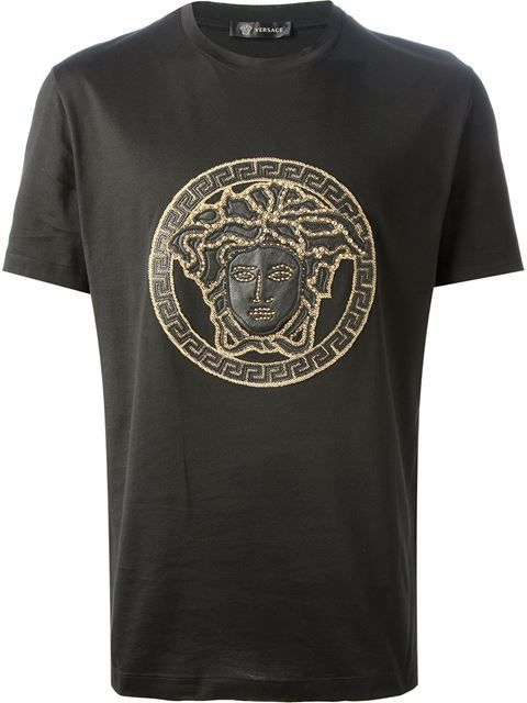 450742cac7a11 Shop Versace Medusa embroidered T-shirt in Elite from the world s best  independent boutiques at farfetch.com. Over 1000 designers from 60  boutiques in one ...