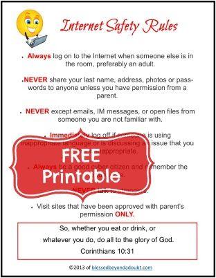 Free Internet Safety Printable