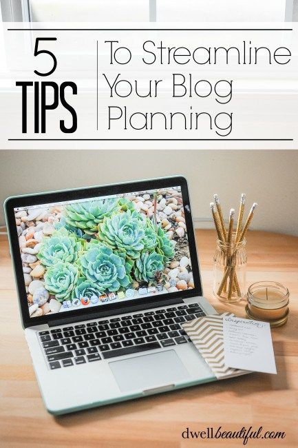 Streamline your blog planning and get more organized with these 5 tips! Get more done in a shorter amount of time and regain your sanity when it comes to blogging!