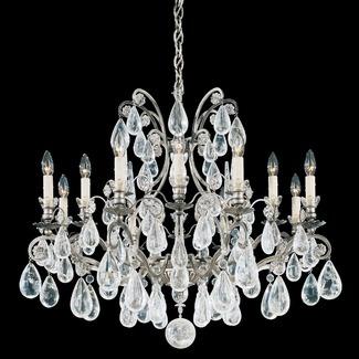 Schonbek Versailles Rock Crystal 12 Light Chandelier