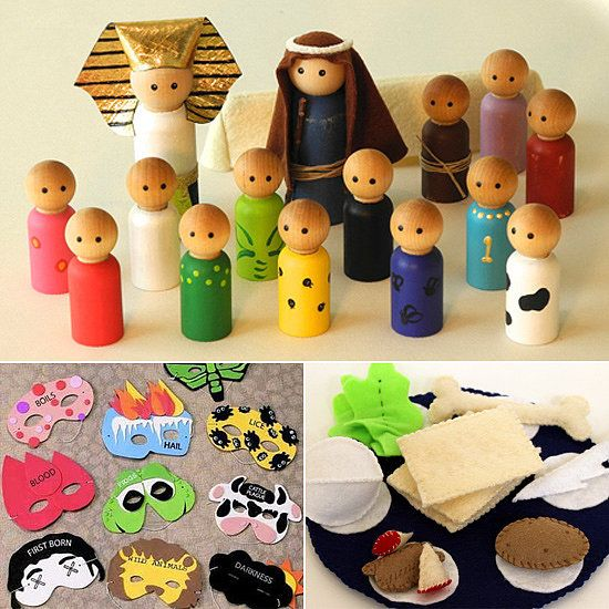 13 Passover Gifts For Kids-- love the wooden pharaoh, Moses, Israelites & Plagues!