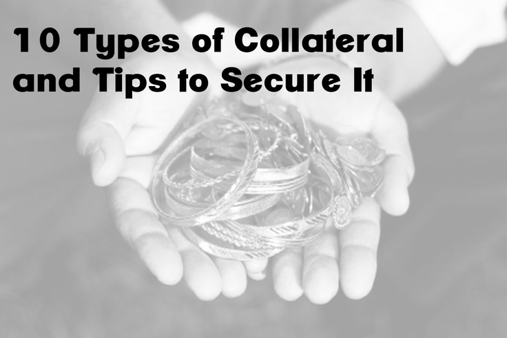 """10 of the best options for collateral and how to secure it:  1. """"Actionable Intelligence (Good, Timely, Positively-Verified Information)."""" 2. Real Property can be an excellent form of collateral. 3. Vehicles With Titles are a very common form of collateral. 4. Cash is an awesome form of collateral. 5. Credit cards can sometimes be utilized to secure your bail bond(s). 6. Jewelry can be used as collateral. 7. Promissory Notes are an interesting form of collateral...."""