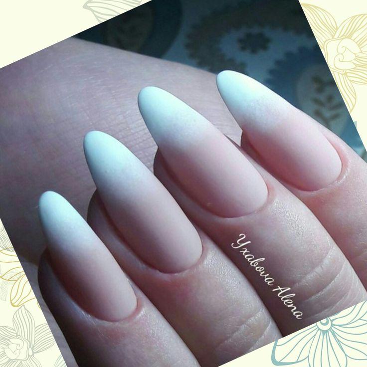 Натуральные ногти. Матовый топ. Омбре. Гель-лак. Красота. Natural nails. Matte nails. Ombre. Beauty. Manicure