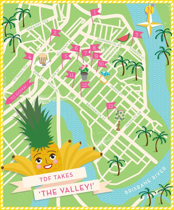@Matty Chuah Design Files Map of Fortitude Valley + mine guide to Brisbane #loveit #awesomesauce #want