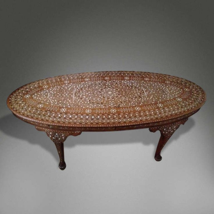 Oval Inlaid Coffee Table Exotic Inlaid Furniture Pinterest Coffee Tables Tables And Coffee