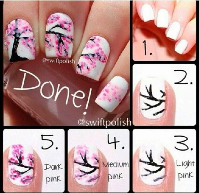 Pol To The Lish Nail Art Blogspot: Spring nails step by step