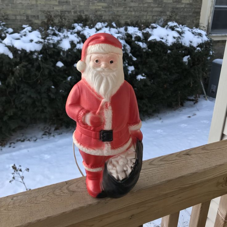 Vintage Santa Claus Blow Mold Light 1950s Decoration Christmas                      – LyndiLaneVintage