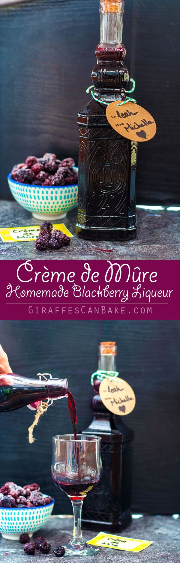 A sweet and fruity homemade Blackberry Liqueur (also known as Crème de Mûre) that is so easy to make yourself with very little hands on time. The perfect way to use up all the blackberries the season has to offer! This easy homemade Blackberry Liqueur only gets better with time – so make up a big batch now to have the perfect homemade Christmas gifts on hand come December.