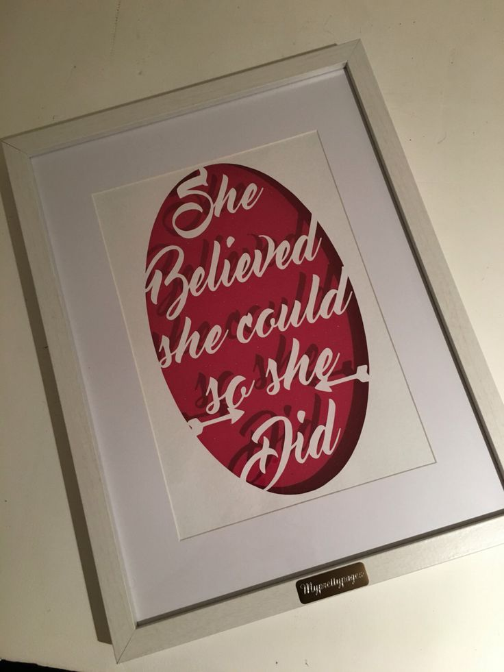 A personal favourite from my Etsy shop https://www.etsy.com/uk/listing/387561858/she-believed-she-could-papercut-wall-art