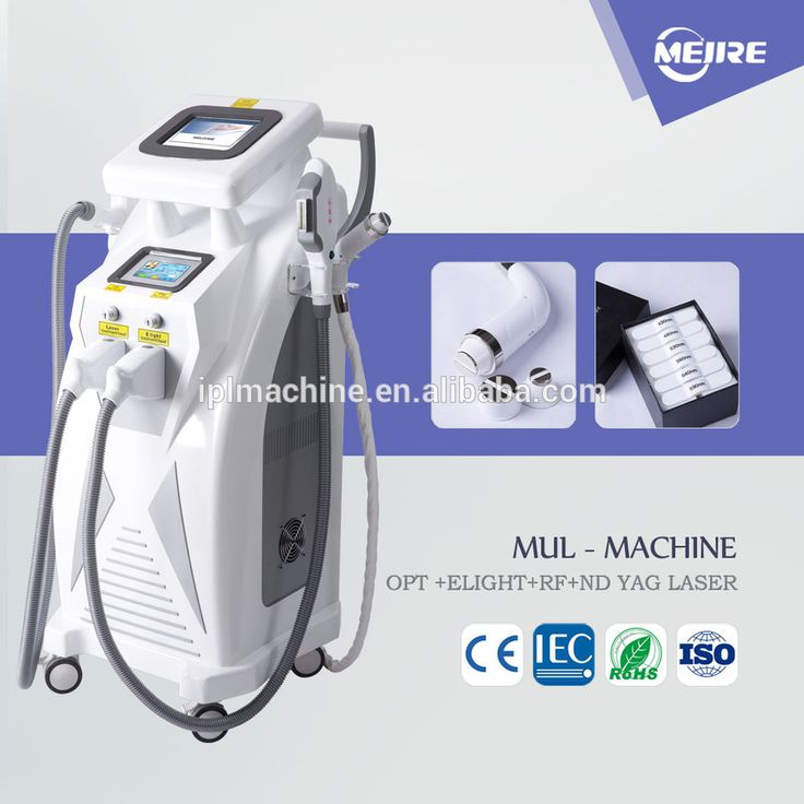 2017 Mltifunctional machine for hair removal/skin rejuvenation/tattoo removal e-light ipl rf+nd yag laser multifunction machine