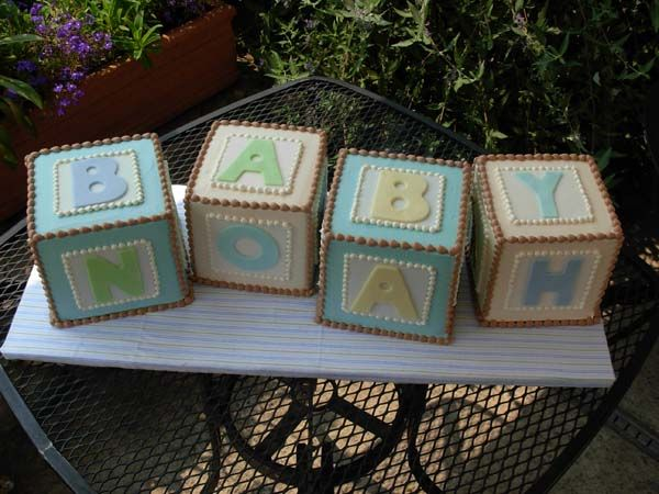 Baby Block Cakes --- so cute!!!