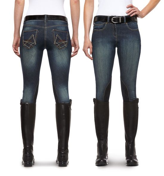Keep it comfy and casual with a pair of Ariat denim breeches. http://www.tackroominc.com/biariat-womens-denim-breeches-indigobi-p-16188.html