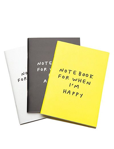 Smiles & Toast Set of 3 Exercise Books | M&S