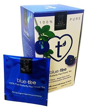 Buy Wild Hibiscus Blue-Tee 100% Pure Butterfly Pea Flower Tea - 20 Teabags (60g each)
