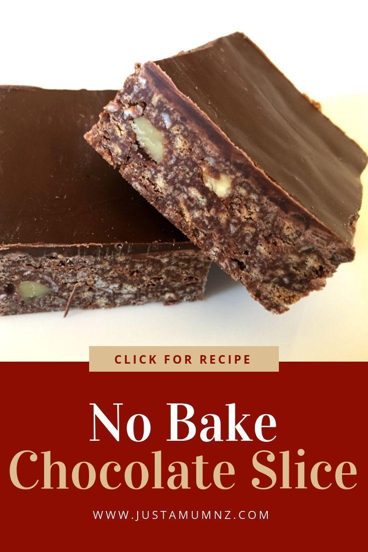 No Bake Chocolate Slice Recipe In 2020 Chocolate Slice Recipes Baking